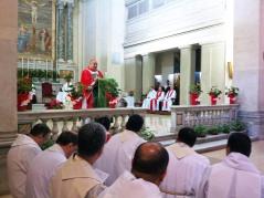 Cardeal celebra na Basílica de São Sebastião, em Roma